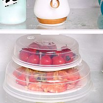 2PC Plastic Microwave Plate Cover Clear Steam Vent Splatter Lid Food Dish New Kitchen Tool Plate Kitchen Accessories Fresh Cover