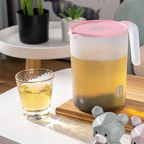 2000/2500ml Clear Large Capacity Pitcher Heat Resistant Cold Water Jug Household Teapot Kettle Beverage Storage Container Bottle