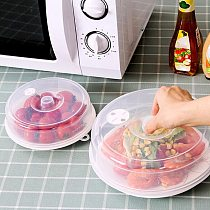 2PCS Plastic Microwave Plate Cover Clear Steam Vent Splatter Lid Food Dish New kitchen tools plate kitchen accessories &s