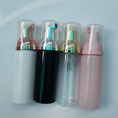 1pcs Bright Color 60ml Squeezed Dispenser Foaming Pump Soap Foam Bottle Jar PET Travel Refillable Bottle Empty Container