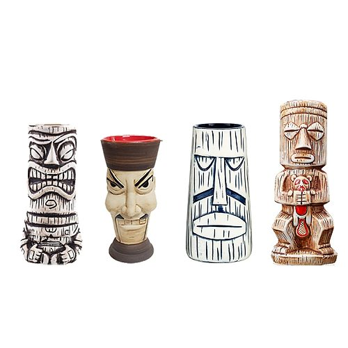 Hawaii Tiki Mugs Cocktail Cup Beer Beverage Mug Wine Mug Ceramic Tiki Mugs