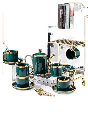 Light Luxury Nordic High-End Coffee Cup European-Style Small Luxury Afternoon Tea Set Home Set Small Exquisite High-End