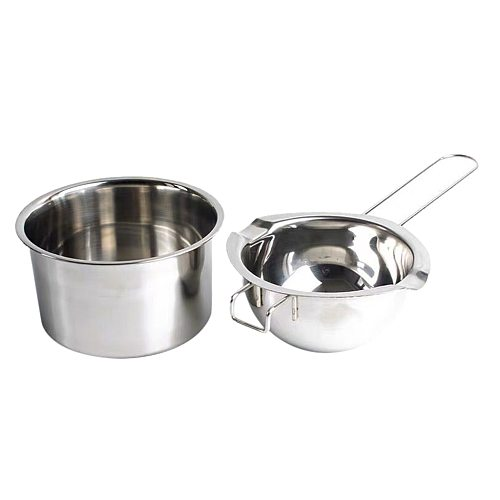 2 Pieces Stainless Steel Candle Wax Melting Pot Double Boiler Tool for DIY Scented Candle Handmade Soaps Making Tealight Craft