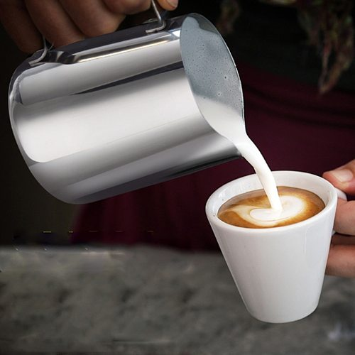 Stainless Steel Frothing Coffee Pitcher Pull Flower Cup Cappuccino Milk Pot Espresso Cups Latte Art Milk Frother Frothing Jug