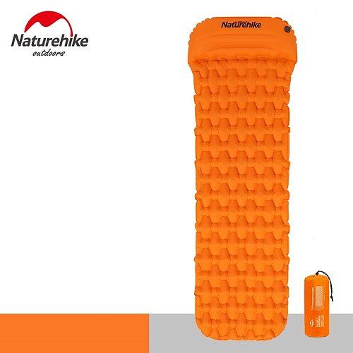 Naturehike Sleeping Pad With Pillow New Hand Press Inflating Camping Mattress Ultralight Outdoor Hiking Tent Mats