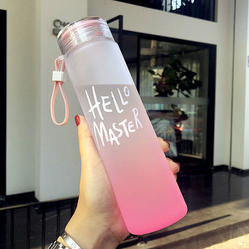 2020 New Plastic Bottle For Water Sport 500ml Portable Rope Kids Drinkware Outdoor Leak Proof Seal Gourde Climbing Water Bottles