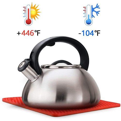 Silicone Pot Holder, jar Opener,spoon Rest and Garlic Peeler, Flexible, Durable, Dishwasher Safe, Heat Resistant Hot Pads (7.2 )