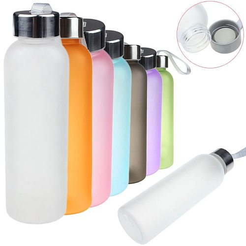 600ML Water Bottle Portable Sport Bike Camping Cycling Travel Plastic Juice Frosted Soda Bottle Drinkware Outdoor Water#YL5