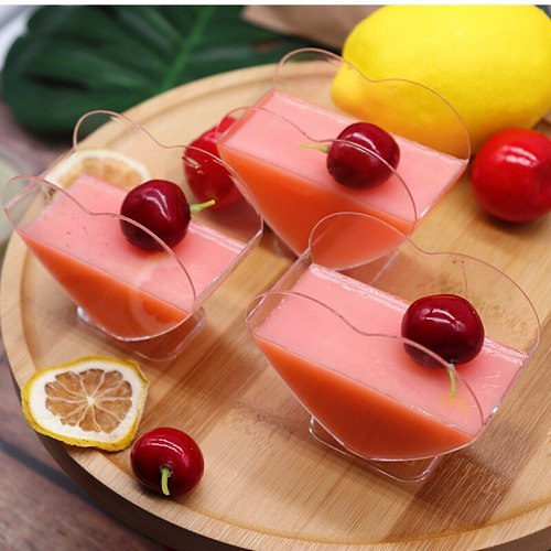 New 40PCS Pudding Dessert Cups Plastic Disposable Party Mousse Ice Cream Cup Tiramisu Baking Container Birthday Wedding Supplies
