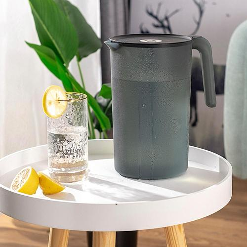 Cold Glass Water Bottle Jar Kettle Transparent Large Capacity Heat Resistant Water Pot with Handle Pitchers 2000/2500ml