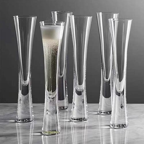 2pcs/lot  Crystal Glass Champagne Glass Creative Wedding Gift Bubbling Goblet A Pair of Sparkling Glasses Ladies Wine Glasses