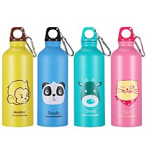 Stainless Steel Sports Bottles 500 ML Outdoor Sports Glass Children Water Cup Outdoor Sports Cup with Carabiner