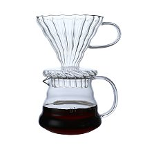 600ml High-Temperature Resistant Glass Coffee Pot Coffee Maker Coffee Dripper And Pot Set For Coffee Filter Coffee Tools