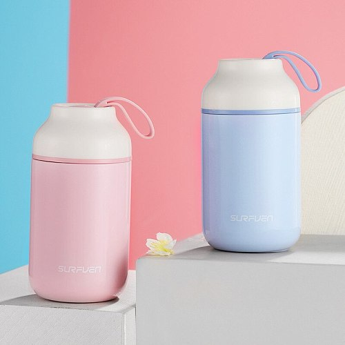 KAXIFEI 2019 New Gradient Stainless Steel Thermos bottle Thermo Mug Gift Cute Kid Tumbler Thermal Vacuum Flask Thermos Cup