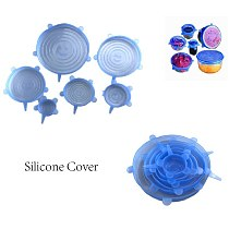 Reusable Silicon Stretch Lids Universal Pot Cover Wrap Bowl  Lid Silicone  Pan Kitchen Accessories   Food