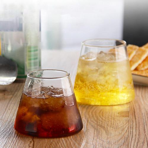 250/300ml Irregular High Temperature Resistant Transparent Glass Juice Glass ice Cream Whiskey Beer Glass