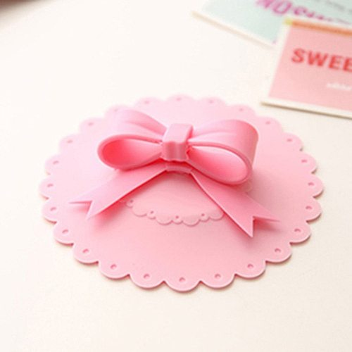 Cute Anti-dust Silicone Glass Cup Cover Silicone Lovely Bowknot Cup Cover  Coffee Suction Seal Lid Cap 6 Colors 10.5cm