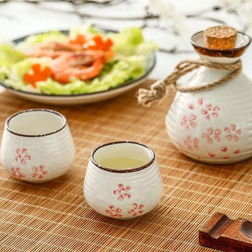Ceramic Shot Glass Cup Beer Mug Wine Glass Mug Whisky Vodka Liquor Sake Cup Wine Bottle Decanter Bar Home Japanese Style