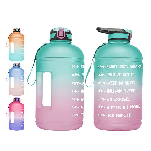 Water Bottle 1 Gallon 3.78L With Straw Plastic Large Capacity Gym Fitness Sports Bottle BPA FREE for Camping Hiking