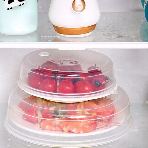 Microwave Plate Cover Lid With Steam Vents Fresh-keeping Bowl Cover Stackable Microwave Splatter Sealing Disk Cover #T2P