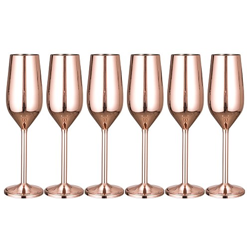 200ml Drinkware Home Stainless Steel Anniversary Smooth Rustproof For Wedding Red Wine Champagne Glass Kitchen Unbreakable Gift
