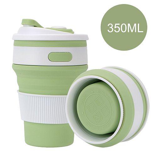 Folding Water Cup Coffee Mug Silicone BPA FREE Drinking Ware Mugs Collapsible Food Grade Travel Tea Cups
