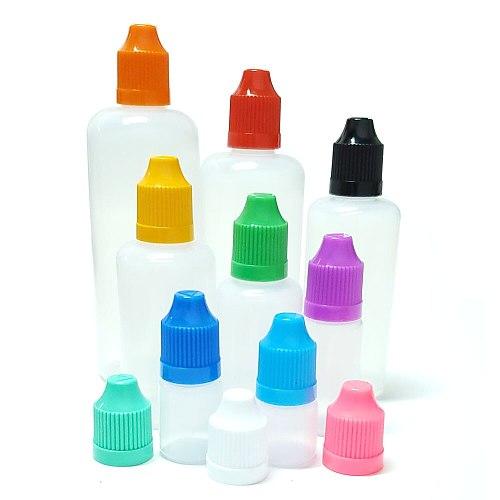 10Pcs PE Empty Plastic Dropper Eye Drop Bottle 3ml / 5ml / 10ml / 20ml / 30ml / 50ml / 100ml / 120ml Empty Pen Squeeze Bottle