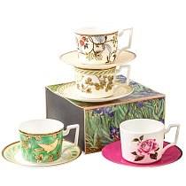 hand crafted tea cup and saucer tea cups design with gift box & bone china coffee cup sets