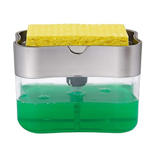 2 in 1 Automatic Soap Dispenser Hand Press Liquid Soap Pump for Kitchen Bathroom Soap Organizer Kitchen Cleaner Tools