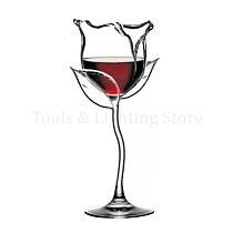 Fancy Red Wine Goblet Wine Cocktail Glasses 100ml Rose Flower Shape Wine Glass Party Barware Drinkware