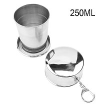Small Medium Large Stainless Steel Folding Cup
