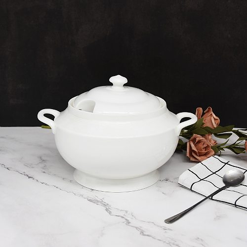 White Deep Ceramic Casserole Dish Handmade Earthenware Saucepan Chinese Cooking Pot cookware with lid and Handle Healthy Pot