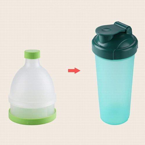sport fitness protein powder storage funnel bottle protein shaker water bottle gym pills storage