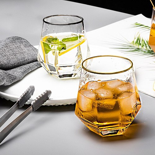 Set of 2-high quality transparent whiskey glass party club wine glass drinkware cup GLA-1505