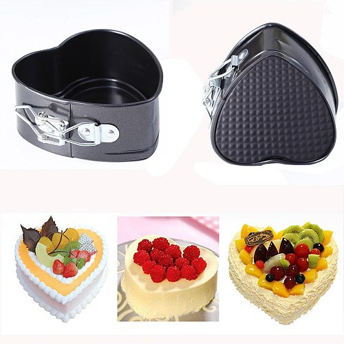 Cake Mold Non-stick Love Heart Shape Cake Pan Tin Diy Baking Cheese Bread Tray Bakeware Removable Base Tray Kitchen Accessories