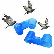 1PC Plastic Water Bottle Bird Feeder Drinker Cup Bird Cage Accessories Bird Drinking Feeding Trough Water Bowl
