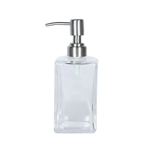 500ml Glass Empty Pump Dispenser Clear Bottle Makeup Container Press The Bottle High Quality New Arrival Travel Bottles