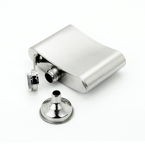 1Pc 4-18oz Portable Stainless Steel Hip Flask Whiskey Bottle Russian Wine Mug With Box Pocket Drinkware Alcohol Bottle