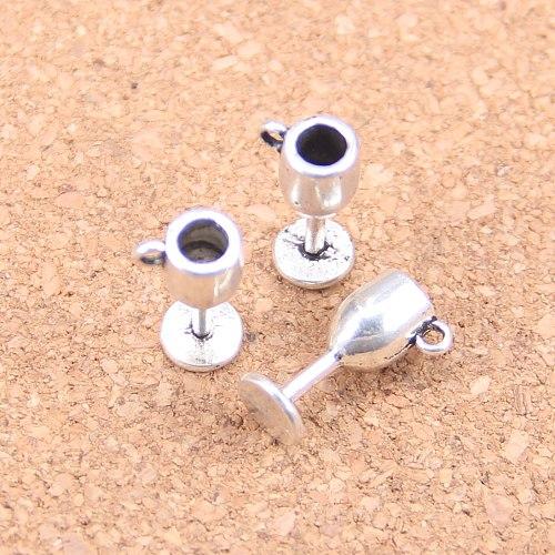 20pcs Charms wine glasses 15x6x6mm Antique Pendants,Vintage Tibetan Silver Jewelry,DIY for bracelet necklace