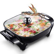 2017 Sale Real Utensilios De Cocina Kitchen Appliances Tools 4.5l Multifunction Household Electric Korean Square Pot Wok Fondue