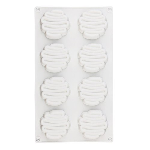 Silicone Cake Mold Food Grade Silicone Mold Cream Shape 8 Holes Bakeware Baking for Muffin,Jelly,Epoxy resin,Cake,Chocolate DIY