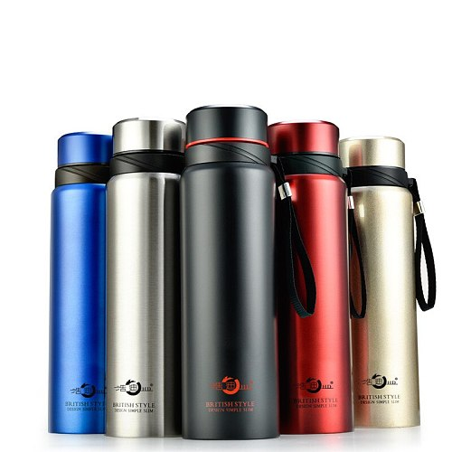 600ml-1500ml Large Capacity Smart Thermos Bottle Sports Stainless Steel Water Bottle Portable Temperature Display Vacuum Flasks