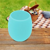 1 PCS Silicone Red Wine Glass Bottle Portable Eco-Friendly Outdoor Rubber Cups For Travel Picnic Pool Boat Camping Fast Delivery