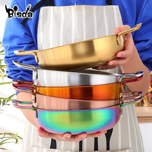 Stainless Steel Soup Pot Thickened Noodles Pot Kitchen Utensils Pots and Pans Single-Layer Cookware Soup Noodle Sea Food Pots