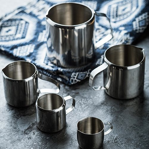 60ml/90ml/150ml/240ml Stainless Steel Milk Frothing Pitcher Espresso Coffee Milk Cream Frother Cup Coffee Milk Can