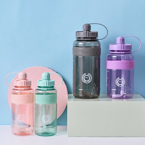 Portable 600/1500ml Sports Water Bottle Drinkware Plastic Large-capacity Outdoor Picnic Camping Hiking Cycling Water Bottle Hot