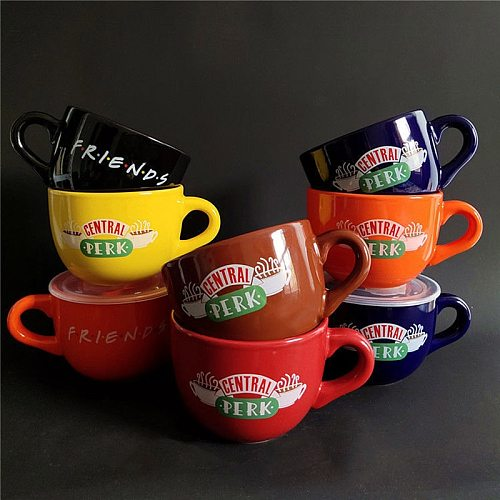 New Friends TV Show Series Central Perk Ceramic Coffee Tea Cup Friends Central Perk Cappuccino Mug Anniversary Gifts For Friends