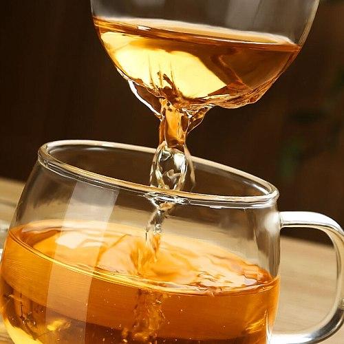 XINCHEN  1 Set Coffee Mug Tea Glass Cup Transparent Clear Glass Milk Mug Coffee Tea Mugs With Tea Infuser Filter Lid Water Cup