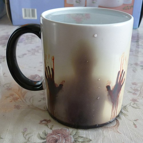 Drop shipping!The Walking Dead Mugs Coffee Tea Milk color changing Ceramic Mug cup