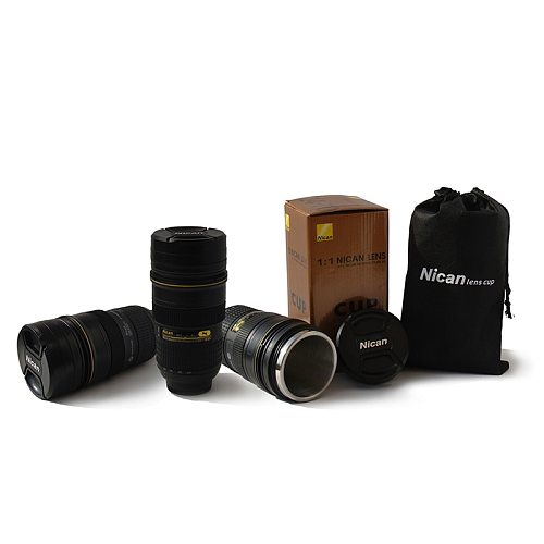 Creative Stainless Steel SLR Simulation Camera Coffee Lens 400ml-500ml Mug Cup 1:1 Scale Coffee Cup Thermal Mug Creative Gift